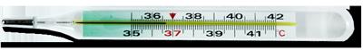 Ртутный термометр с цветной шкалой